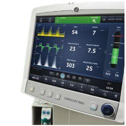 Respiratory dla noworodków/CPAP GE Healthcare CARESCAPE R860